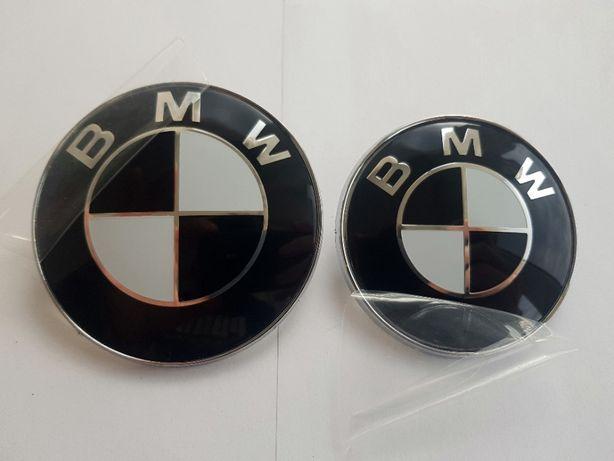 Embleme alb/negre BMW E46 E39 E60 E90 + alte modele 82/76 mm