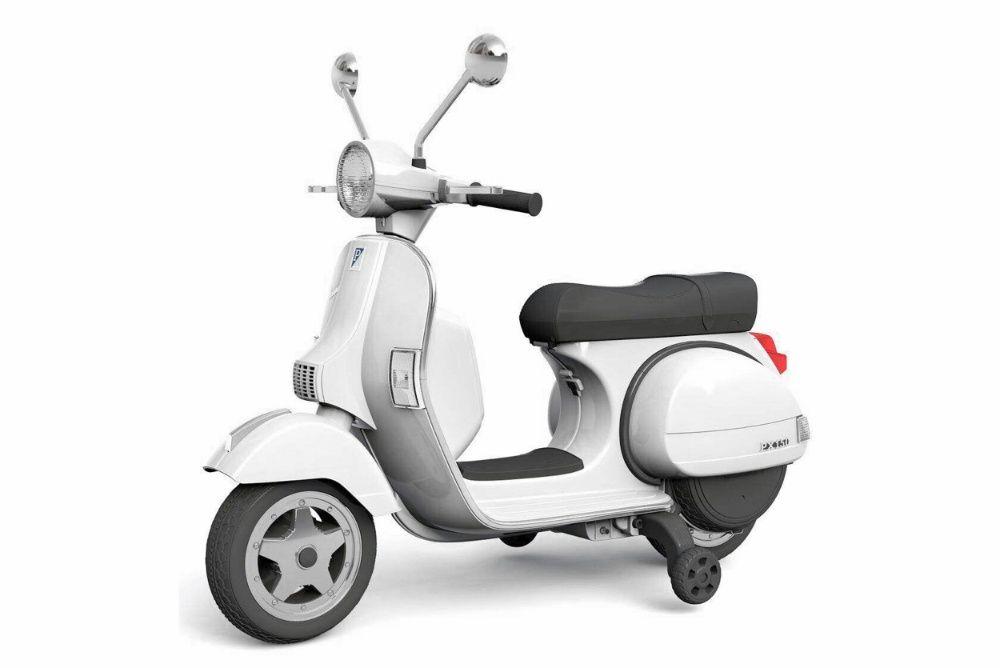 Scuter electric pentru copii Piaggio PX150 PREMIUM #Alb