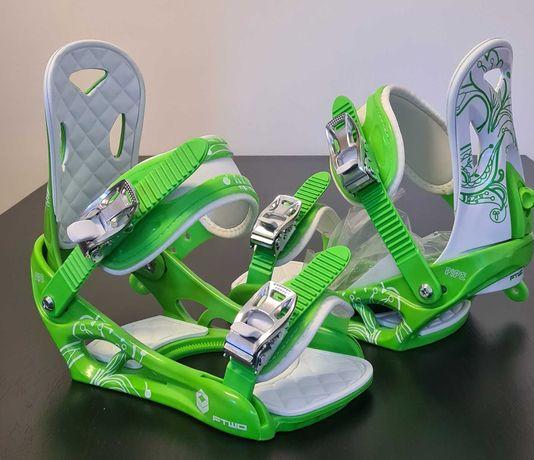 Legaturi Snowboard FTWO W BDG PIPE white&green M