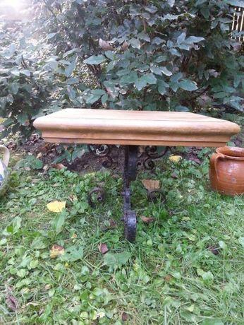 Suport lemn si fier forjat