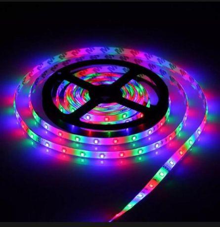 5 метра RGB LED Диодна лента 3 цвята (В комбинация стават 16 цвята)