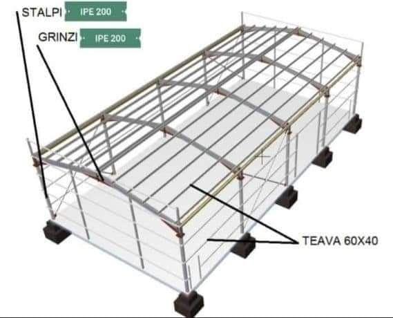 Vând și Construiesc Containere modulare din structură metalică învelit