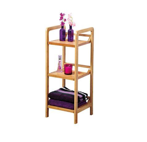 Kesper рафт/етажерка за кухня/баня от бамбук, размери: 30 х 30 х 70 см