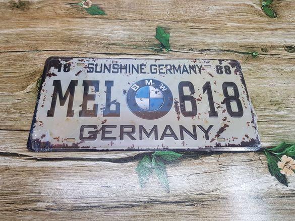 BMW метална табела