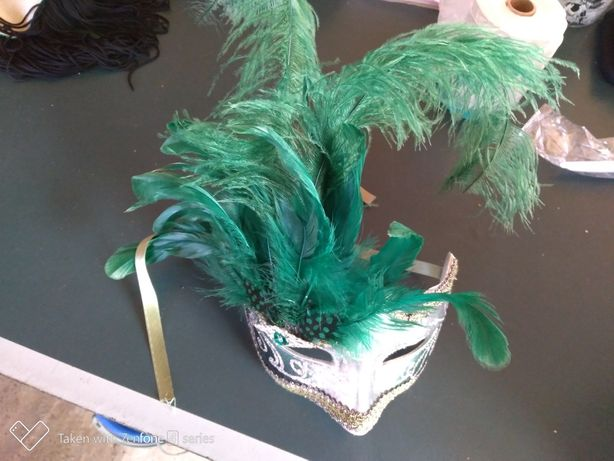 Masca decorativa pene carnaval,petreceri,vchat,etc