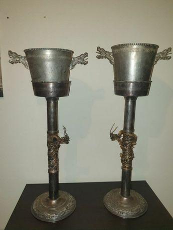 Frapiere vechi din bronz argintat, deosebit de frumoase și rare