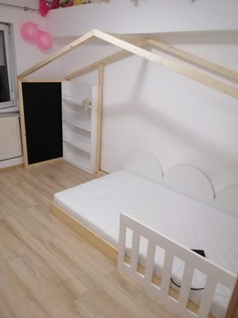 Mobilier lemn, PAL, ,patuturi copii stil casuta , loc joaca pisicute