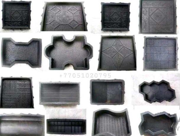 Формы резиновые для брусчатки, тротуарной плитки, бордюров.
