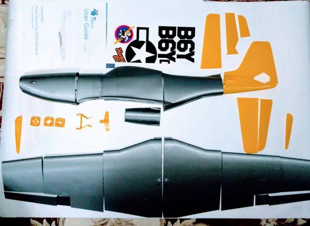 Avion P51 D Mustang KIT printat 3D după planurile 3DLabPrint pentru RC