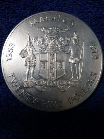 Moneda argint 925 25 dolari 1978 regina elisabeta raritate