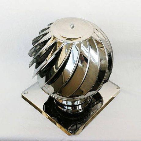 Шапка за комин въртяща, коминна шапка - ИНОКС за кръгъл комин