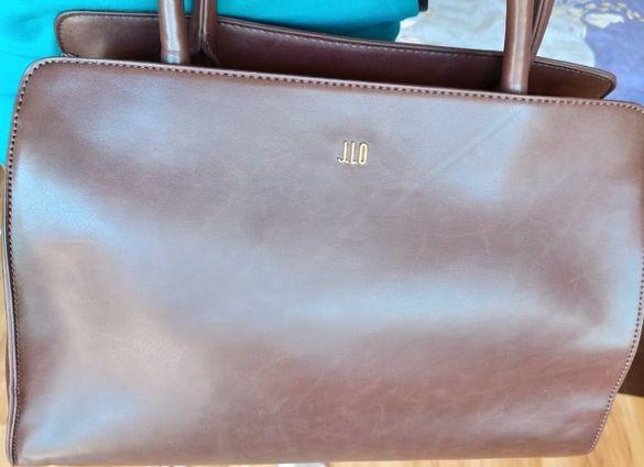 Дамска чанта в цвят кестен