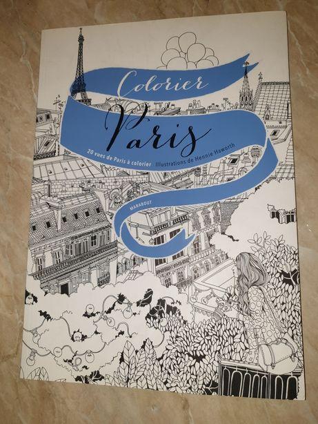 Mandala paris colorare colorat carte ilustratii vederi colorier paris