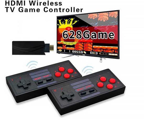 ТОП! 4К Безжична Ретро Видео Игра / Конзола С 628 Игри / Нинтендо