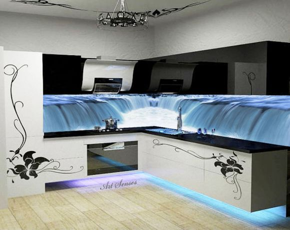 Стикер пано за кухня - Водопад 2