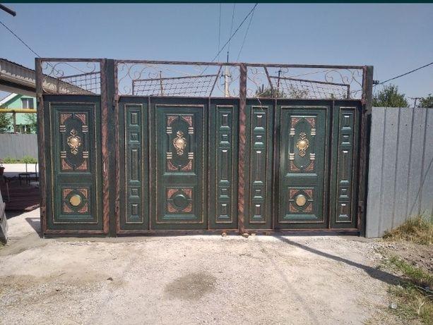 Установка ворот заборов