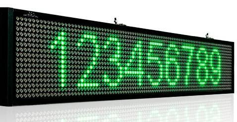 Reclama led verde 70/20cm interior