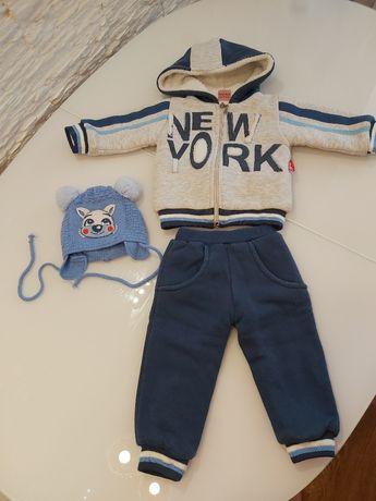 Продам утепленный костюмчик для мальчика