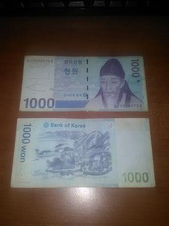 1000 won koreeni