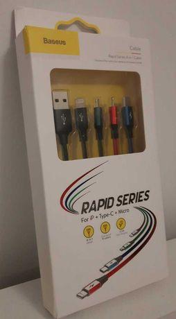 Универсальные кабели для быстрой зарядки Baseus Rapid series 4 in 1