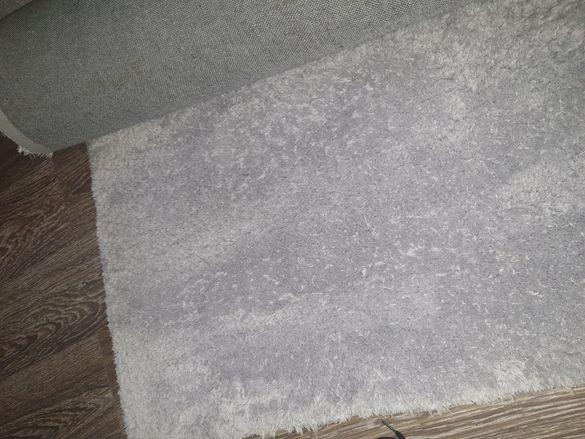 Сребрист пухкав килим 230×160