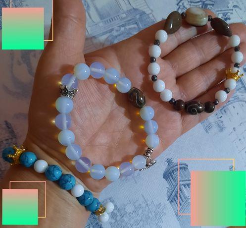 браслеты из натуральных камней 4000тенге