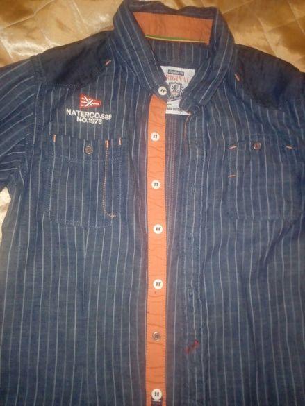 Риза имитация на дънкова