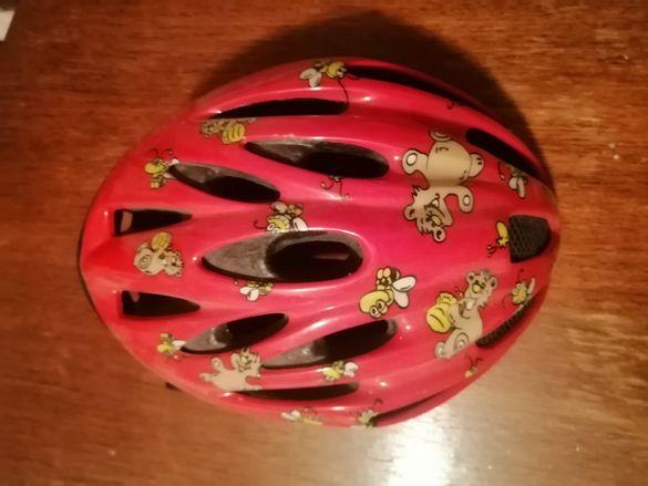 Детска момичешка каска за велосипед