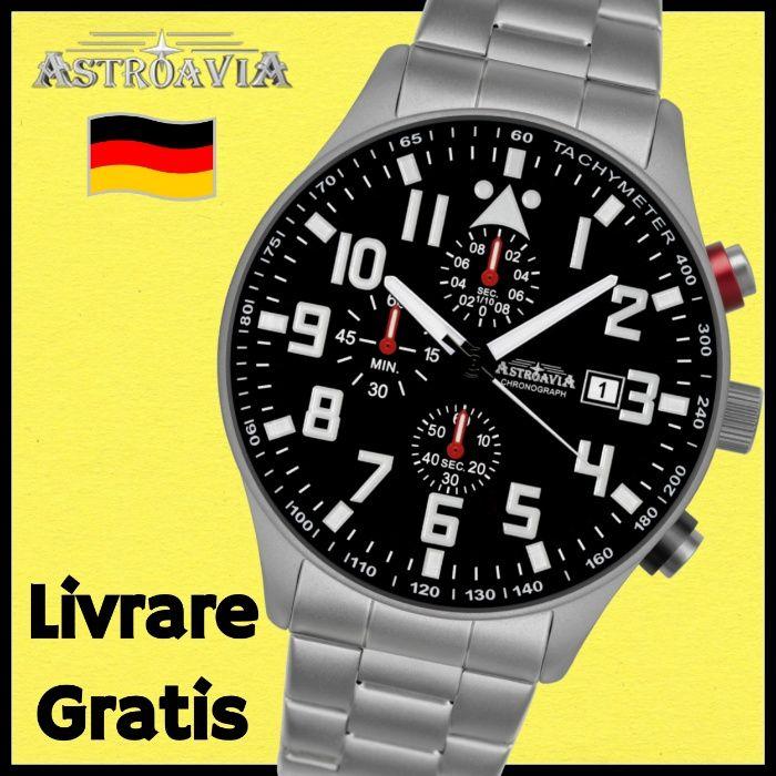 Ceas AVIATOR ASTROAVIA - Barbatesc Pilot Militar Cronograf Quart Seiko