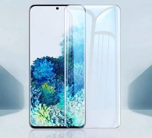 UV Стъклен Протектор за Samsung Galaxy S20+ Ultra S10 Note 20 10 9 5D