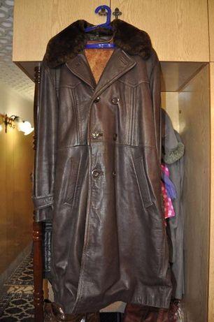Кожено зимно палто - естествена кожа - българско производство гр Ловеч