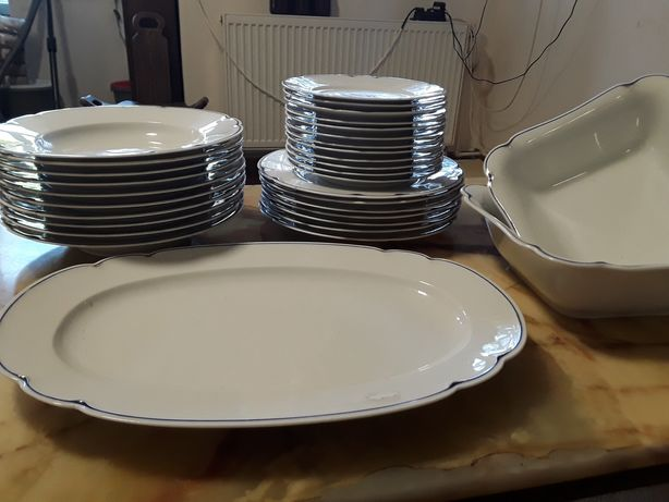 Set masa porțelan culoare alba