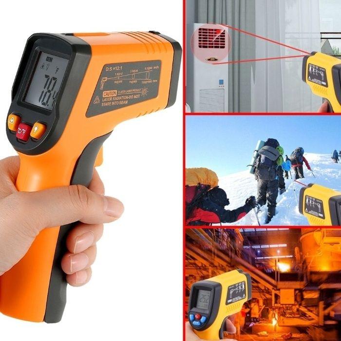 Лазерен термометър безконтактен високотемпературен от -50 до 380°C