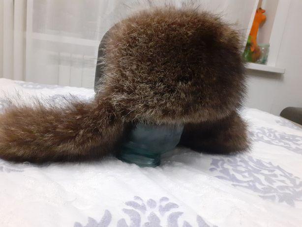 Мужская шапка чернобурка