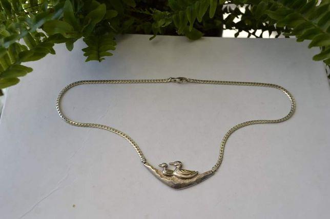 "Colier argint vintage ""Rate pe Lac"" designer Italia anii 80"