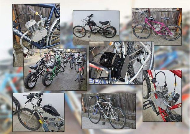 Biciclete cu motor în 2Timpi , 4Timpi pe benzină !