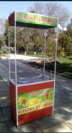 НОВА  комбинирана количка за царевица на пара и хот-дог на ГАЗ