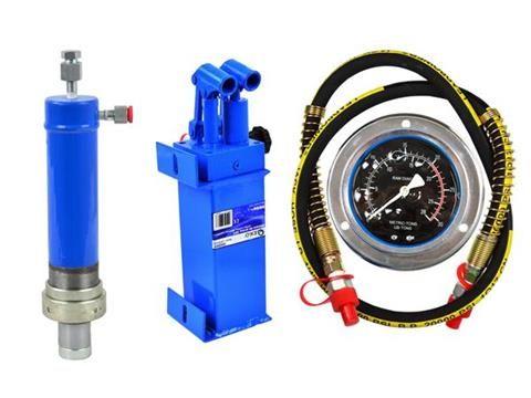 К-кт двускоростна помпа, цилиндър и манометър за хидравлична преса 20т
