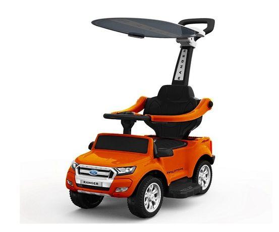 Masinuta electrica cu maner Ford Ranger 3 in 1 6V 25W #Portocaliu
