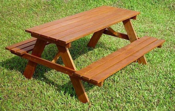 """Баварска маса за пикник с пейка - """"ГК - Лом"""" ЕООД"""