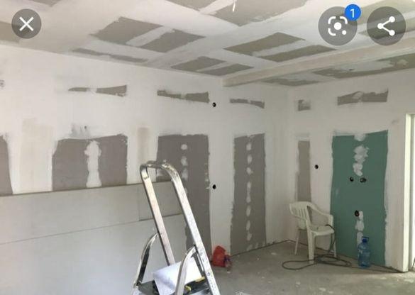 Довършителни работи гипсокартон шпакловане боядисване