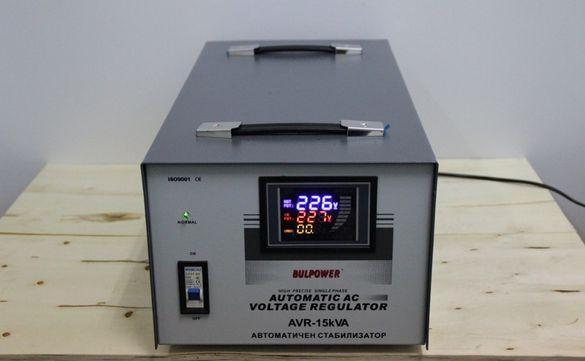 Стабилизатори на ток и напрежение 15 KW BULPOWER с LED дисплей