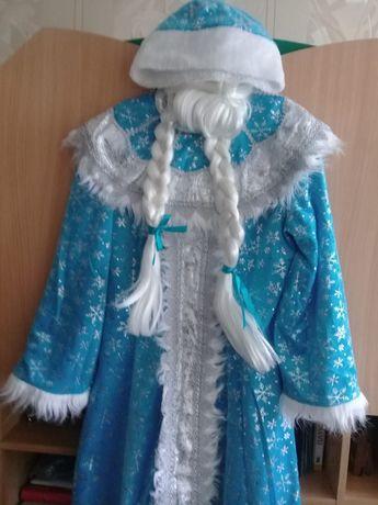 Костюм снегурочки, новогодний