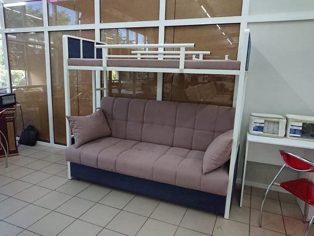 Металлический двухярусный диван