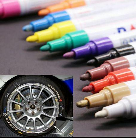 Маркер за гуми,метал,дърво и пластмаса - БЯЛ,ЖЪЛТ,ЧЕРЕН