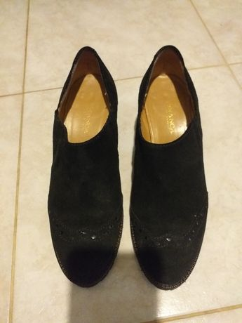 Pantofi cu toc piele întoarsă