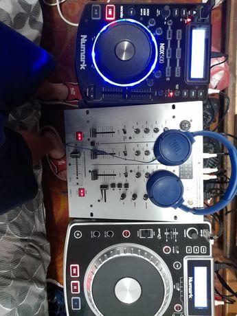 Mixer behringer 2 pleyere numark ndx 500si ndx 800