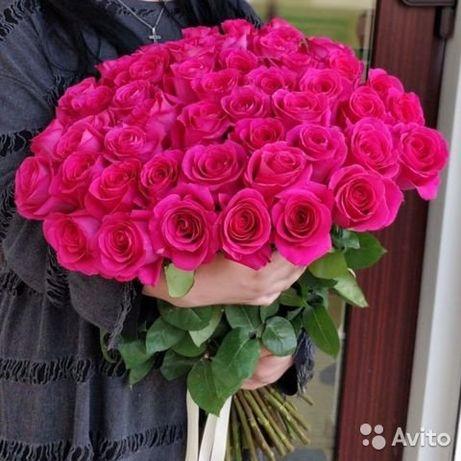Букет Роз! Розовые! Красные! Белые! Жёлтые! Доставка Цветов