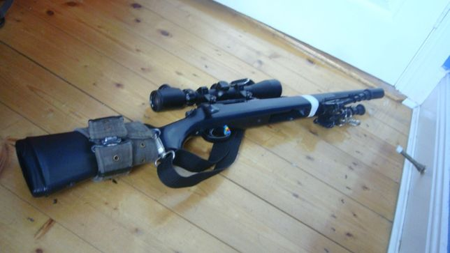 Pusca airsoft WELL POLICE MODIFICAT!! 4.5J Manuala cu Aer Comprimat