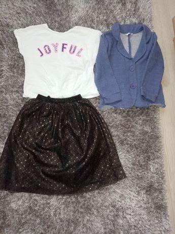 Fusta+tricou Zara , mărimea 104